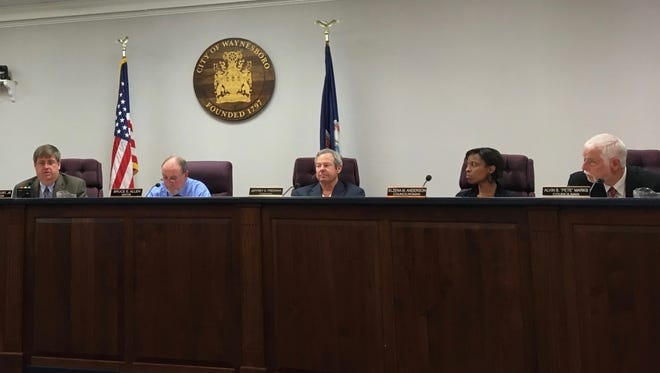 Waynesboro City Council members vote on what the city's real estate tax rate increase will be at their regular meeting on Monday, May 8, 2017.