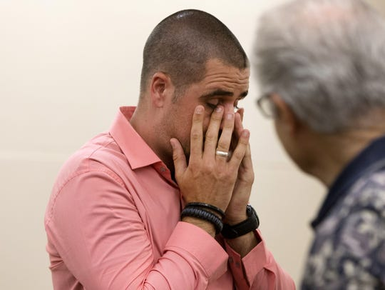 Nick Dugas, 30, becomes emotional after adopting a