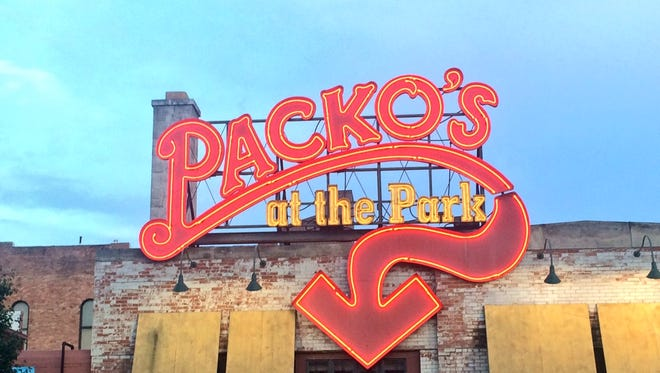 Tony Packo's is located at 1902 Front St. in Toledo. But I tried the Tony Packo's right next to the Toledo Mud Hens' baseball stadium.