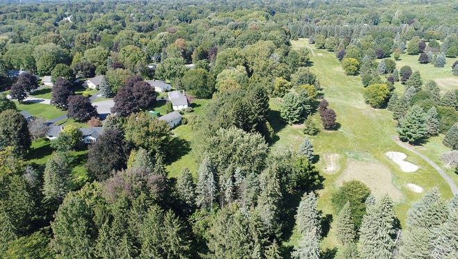 An aerial view of Shadow Pines Golf Club in Penfield in August 2017.