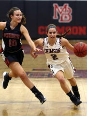 Morristown-Beard's Nicole Borowiec drives to the hoop