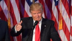 President-elect Donald Trump during his victory declaration