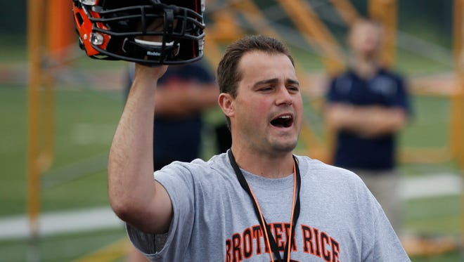 Former Brother Rice High School head football coach Dave Sofran