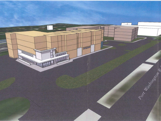 This preliminary rendering shows how the mixed-use