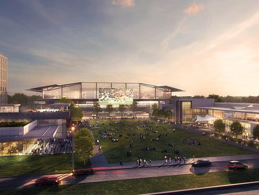 Fan experience stadium rendering of the proposed Athletes