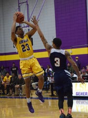 LSU at Alexandria's Jordin Williams (23, left) has been one of the team's more prolific 3-point shooters — knocking down 128 treys in his three years with the Generals.