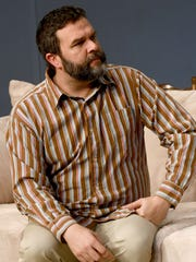 "Ryan Kiley plays the character Tony Rumson in ""Men Are Dogs,"" at the Mansfield Playhouse."