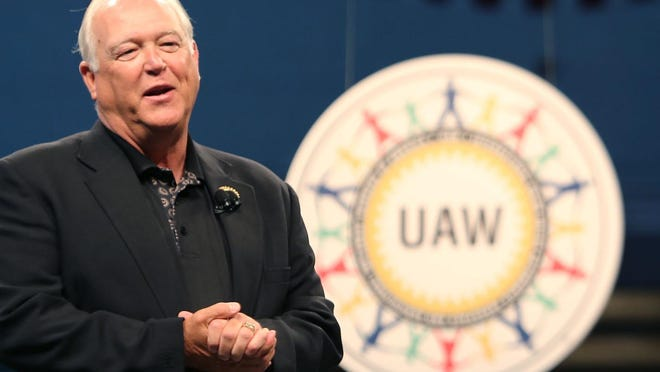 UAW President Dennis Williams speaks during the Ford and UAW official start of contract talks gathering at Cass Technical High School in Detroit on Thursday, July 23, 2015. Regina H. Boone/Detroit Free Press