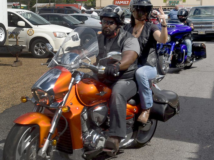 Taking off on a 50 mile bike ride Saturday in Opelousas.