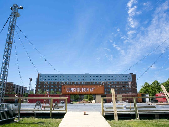 The opening of Constitution Yards Beer Garden may be delayed until next month.