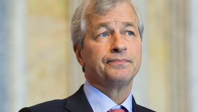 JP Morgan Chase CEO Jamie Dimon participates at the Financial Inclusion Forum hosted by the Department of the Treasury and the U.S. Agency for International Development (USAID) at the Treasury Department in Washington on Dec. 1.