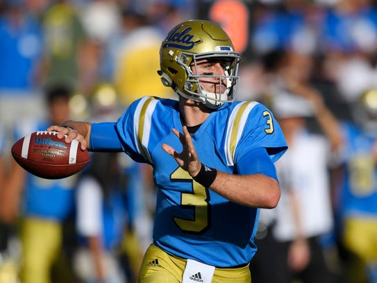 UCLA quarterback Josh Rosen missed half of his sophomore