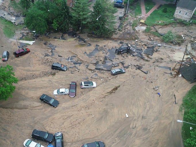 Flash flood devastates historic Maryland town