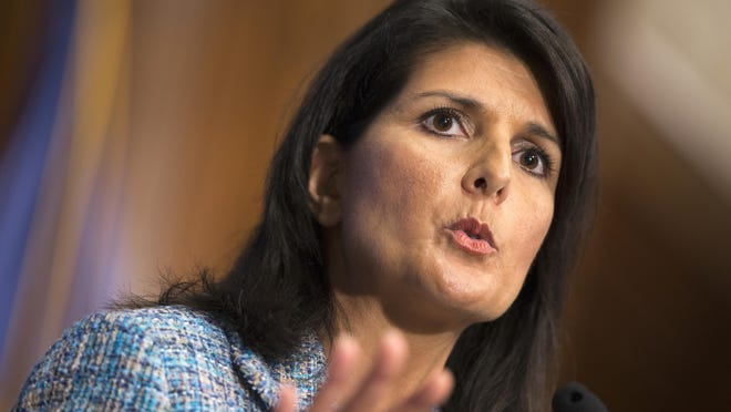 South Carolina Gov. Nikki Haley said Wednesday she is open to the idea of being the running mate to the Republican nominee for president.
