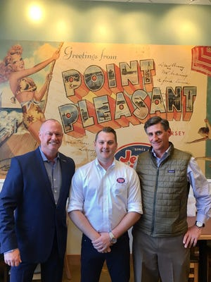 Make-A-Wish New Jersey President and CEO Tom Weatherall, Franchise Owner Chris Rigassio, and Jersey Mike's Subs CMO Rich Hope