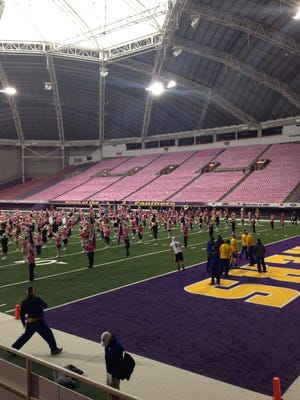 Northern Iowa held a Pink Game promotion on Saturday.