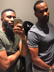 This selfie from Billy and Correll Stanfield of Red Lion went viral and landed them on 'Steve Harvey.'