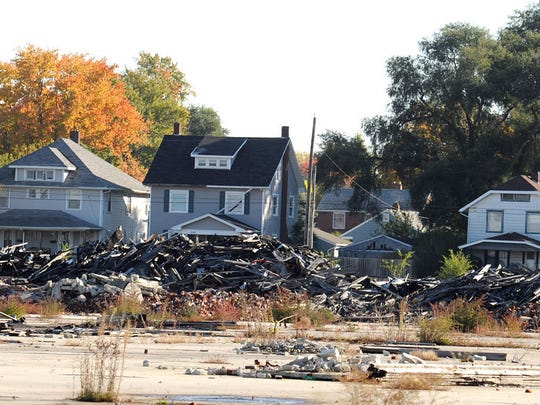 Nearly $45,000 in delinquent property taxes is owed on the site at 333 Joseph St., which was an eyesore for years before the U.S. Environmental Protection Agency cleaned up the site in 2014 .