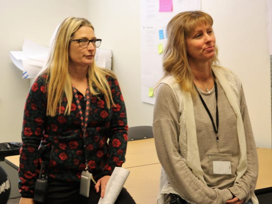 Rocinante High School teachers Jen Dowdy, left, and LeeAnn Jones, helped compile the 50-page document the school's redesign team submitted to the New Mexico Public Education Department.