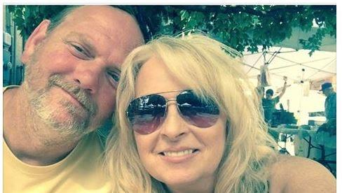 Lisa Taylor (right) and husband Ron Taylor.