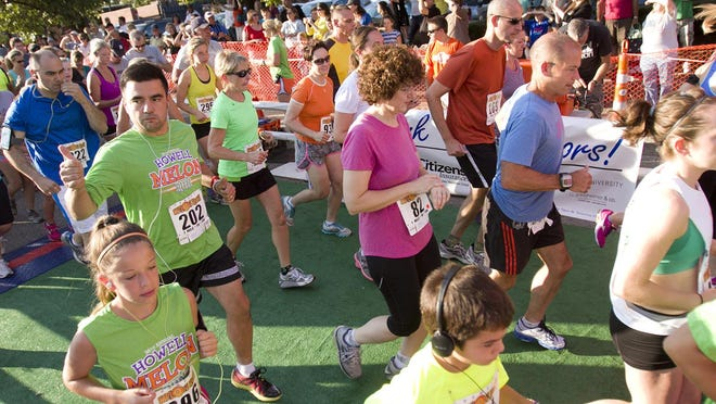 Runners are off to a fast start in the 2013 Melon Run races. The 38th annual Melon Run will be held tonight in Howell.