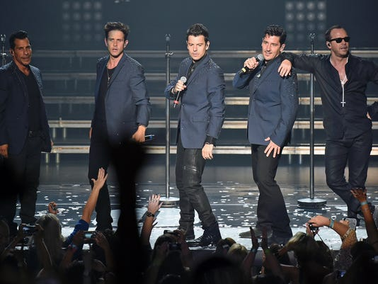New Kids On The Block Perform At Planet Hollywood In Las Vegas