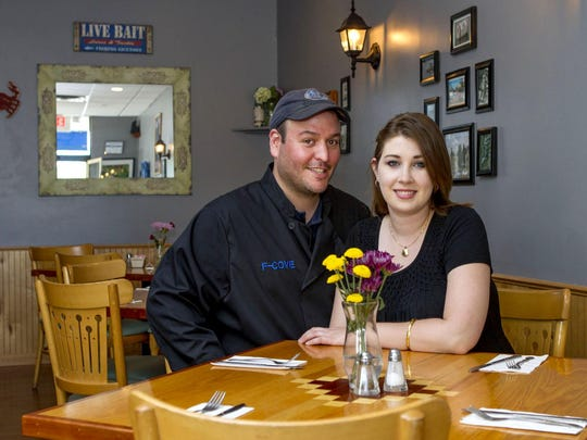 Co-Owners Chef Jesse Dedreus and Scarlett Dell at the F-Cove Restaurant in Brick. Friday, May 29, 2015. Brick, NJ. Mike McLaughlin/Asbury Park PressASB 0529 F COVE