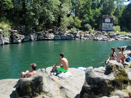 High Rocks is a popular swimming spot on the Clackamas River in Gladstone.