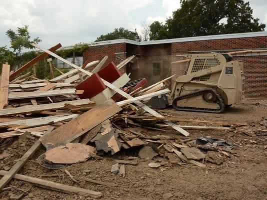 Louisiana Guard demolishes school, making way for progress in Pioneer