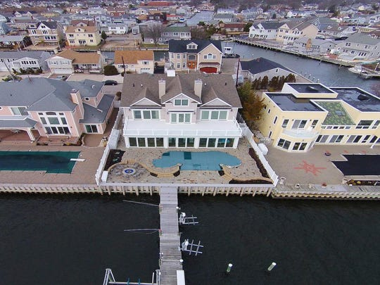 This Point Pleasant mansion is situated on the Barnegat Bay.