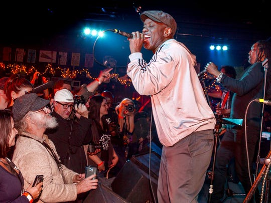 Corey Glover and Bernard Fowler perform with Funk The