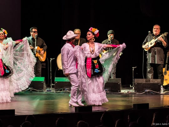 The band, Los Lobos, performs March 12 with dancers from Ballet Folklorico Mexicano at the Ulster Performing Arts Center in Kingston.