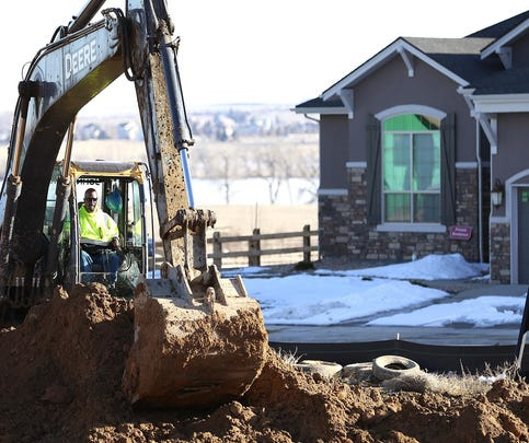 New home construction by Toll Brothers continues at the Ketcher Farms subdivision in Southeast Fort Collins, shown here in February.