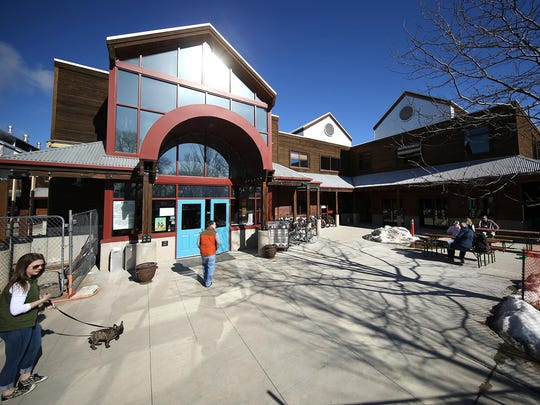 The entrance to New Belgium Brewing Co., which is located just north of Old Town Fort Collins, is seen in February.
