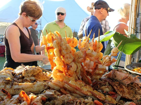 Mountains of seafood await takers at the Marco Island