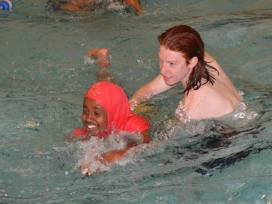 Y swim instructor Addison Bale