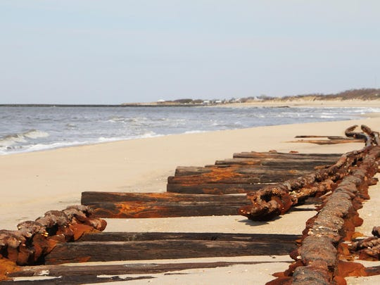 """Until resurfacing in 2014, the """"Ghost Tracks"""" in Cape May had not been seen for about eight decades."""