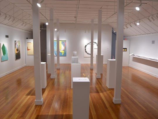 """Contemporary Abstraction,""an exhibit on different approaches to contemporary, abstract art through the work of photographer Julia Bradshaw, sculpture Ellen George and painter Elizabeth Magee, runs through June 4 at Bush Barn Art Center."