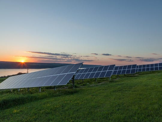 A community solar installation in Tompkins County, New York.