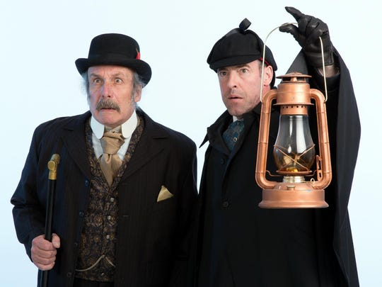 """Bill Van Horn, left, and Ian Merrill Peakes star in the Walnut Street Theatre production of """"Baskerville."""""""