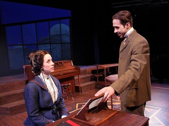Henrietta Leavitt (Katherine Banks) and Peter Shaw