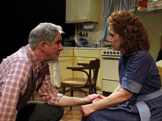 "John Lepard and Brenda Lane in ""To Quiet The Quiet."""