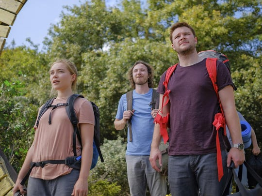 "Jack Reynor, right, and Florence Pugh star in the horror film ""Midsommar."" The movie opens Tuesday at Regal West Manchester."