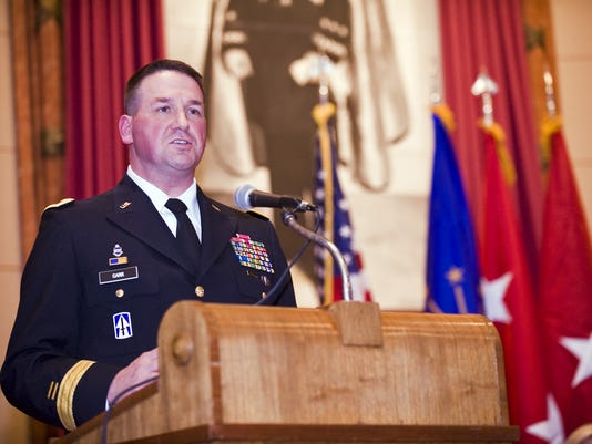 Indiana Guardsman Earns General Officer Star, Indianapolis War Memorial