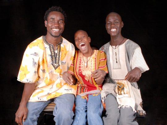 From left are brothers Willy Okola, and Derrick and