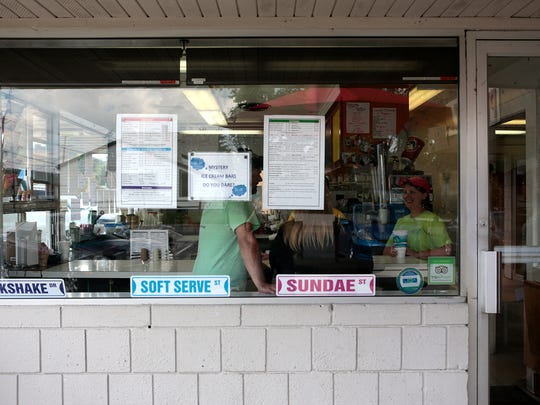 Mick's serves soft serve ice cream as well as sundaes, sandwiches and appetizers.
