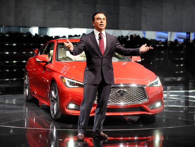 Nissan CEO Carlos Ghosn introduces the Infiniti Q60