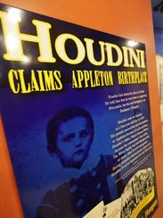 The Harry Houdini display at the Museum at the Castle