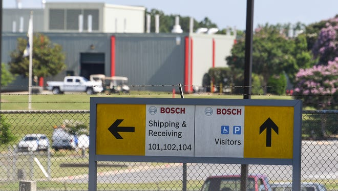 The Bosch plant on S.C. Highway 81 North in Anderson, one of the areas biggest businesses, in Anderson on Friday.