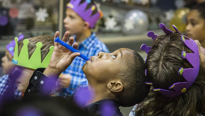 Attendees wait for the start of a parade and balloon drop during a past Muncie Children's Museum New Year's celebration in this file photo.